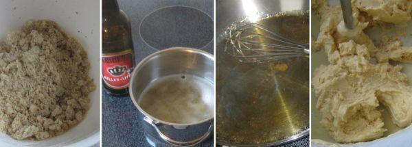 Bier-Karamell-Eis auf Zwetschgenkompott und Streuseln - Zubereitung_klein