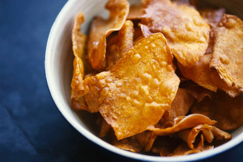 Süßkartoffelchips-selbermachen