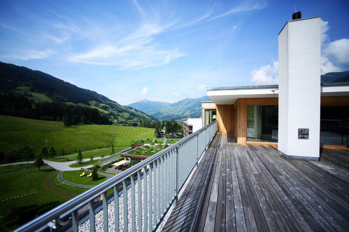 Terrasse der Penthouse Suite Kempinski Das Tirol