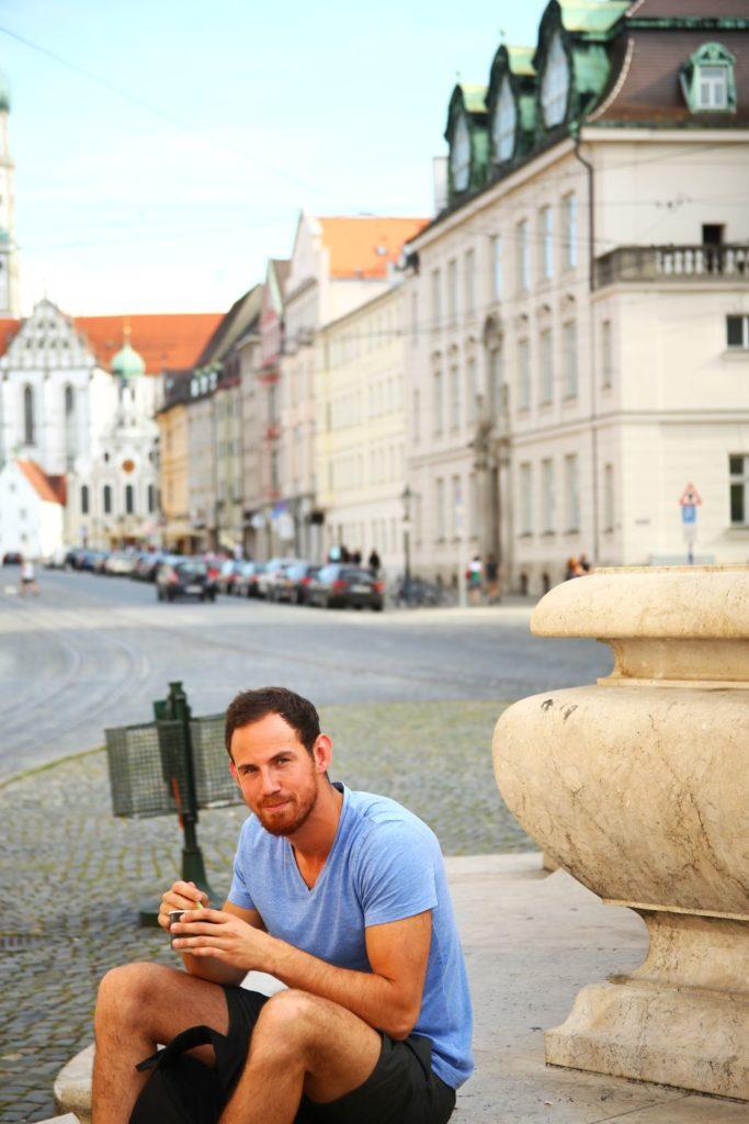 Eis essen in Augsburg