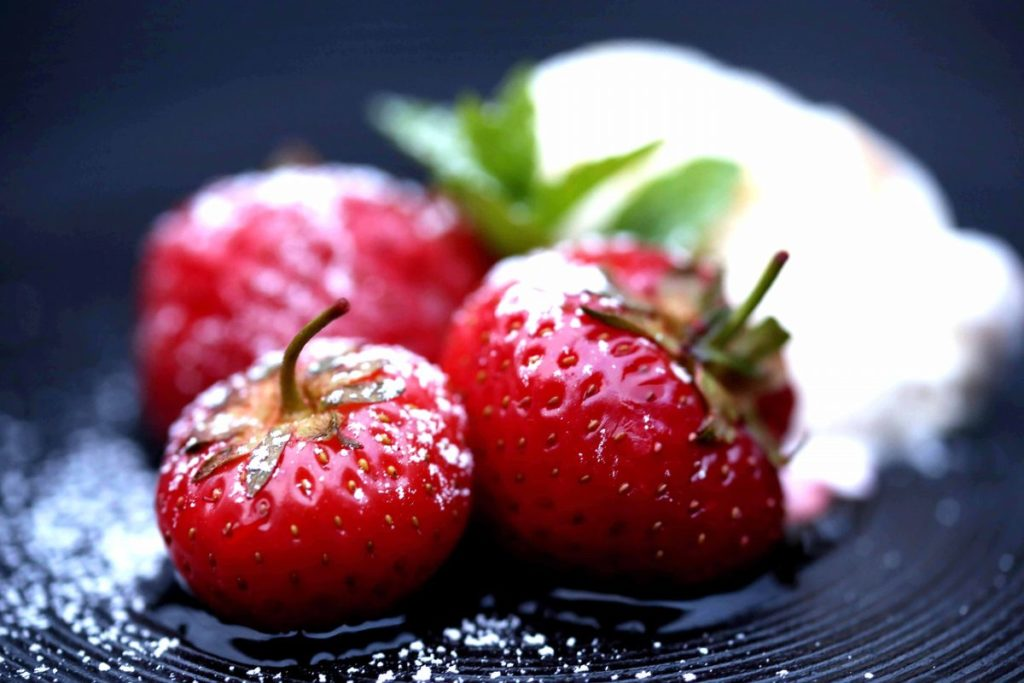 Erdbeeren sous vide gegart