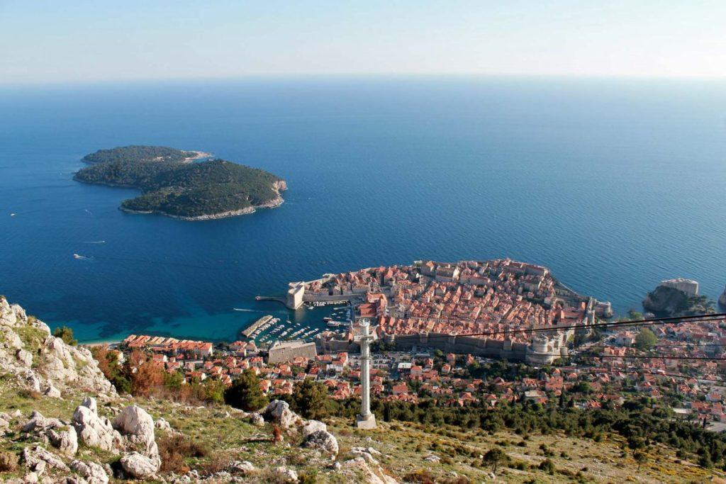 Die Seilbahn über Dubrovnik