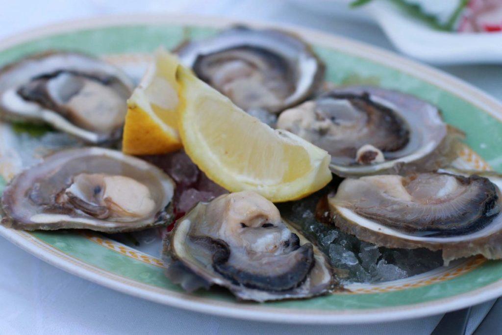 Frische Austern aus Ston