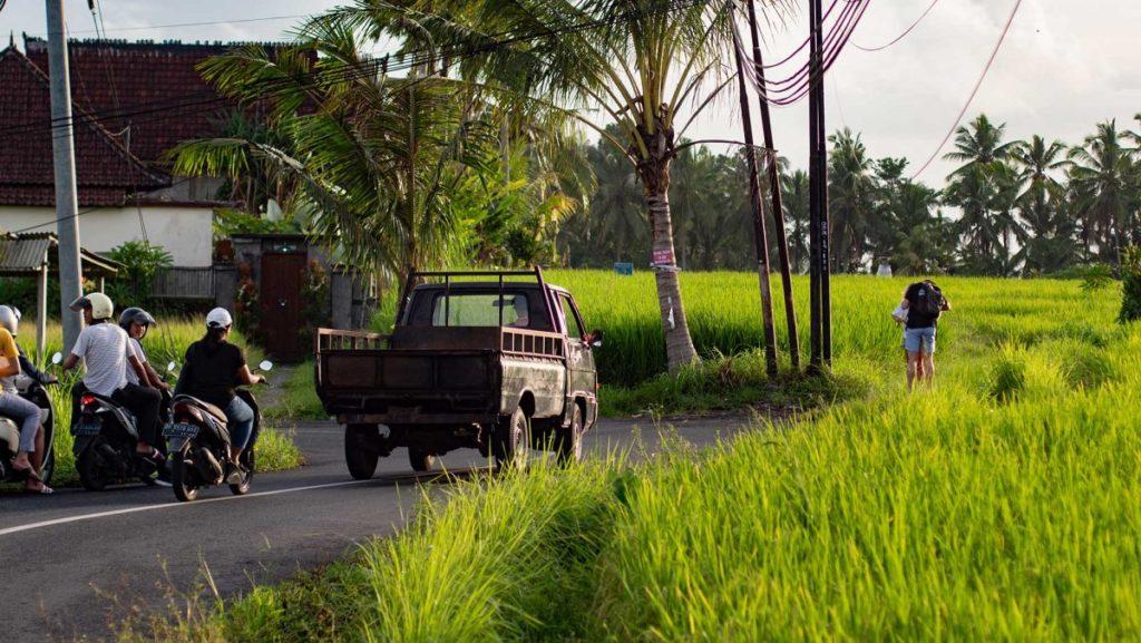 Straße in Ubud
