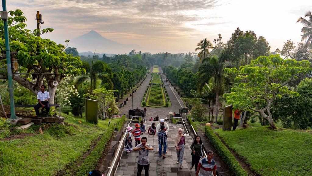 Java: Blick vom Borobodur