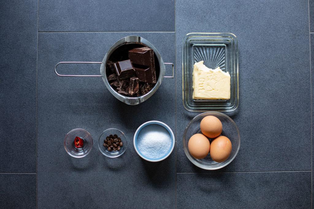 Zutaten für Mousse au Chocolat