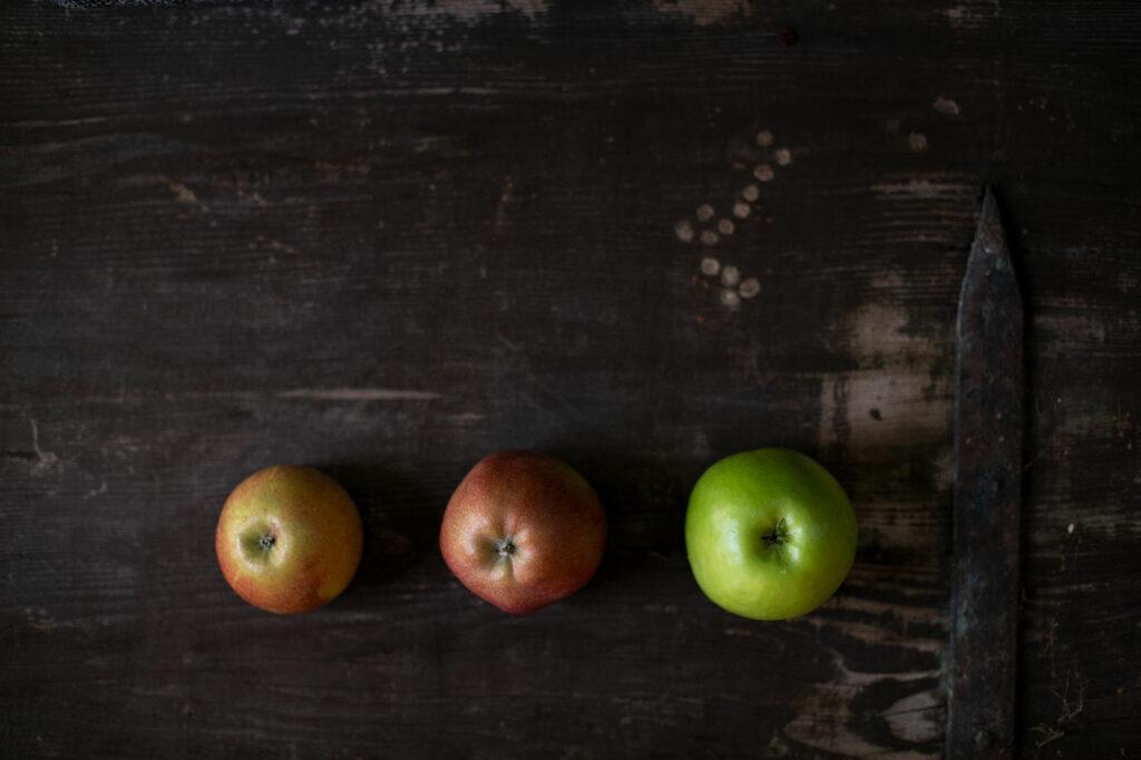 Äpfel für die Tarte Tatin