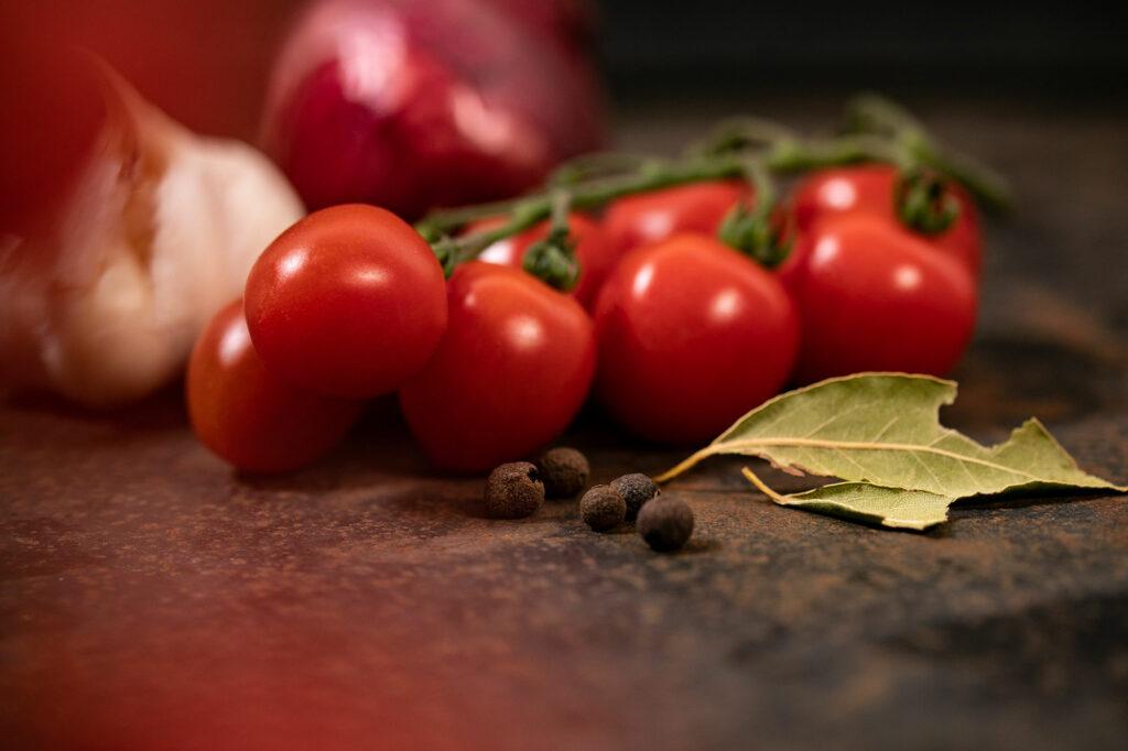 Tomaten und Gewürze