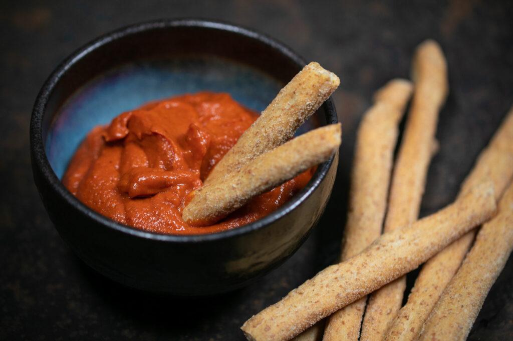 Ketchup mit Grissini