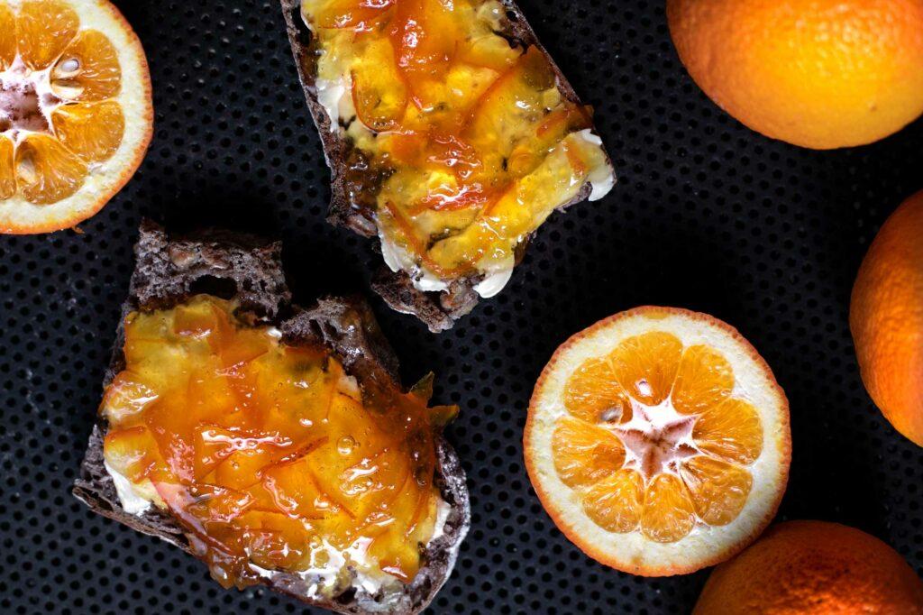 Fertige Orangenmarmelade